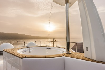 1 of the best Jacuzzis on board of our yachts for charter